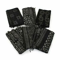 Handwoven African Mud Cloth Bambara | African Fabrics (Black/White)