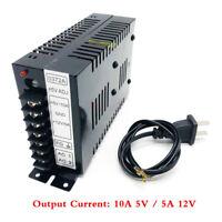 Output 10A 5V / 5A 12V Switching Power Supply For Arcade JAMMA Games DIY Black