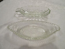 Vintage CLEAR GLASS BANANA BOAT ICE CREAM SUNDAE SERVING DISHES Set of 2