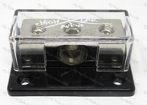 1/0 ga input (2) 4 ga Output  Distribution Block Car Audio Distro SHCA-DB-1024S