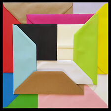 """DL Coloured Envelopes 110x220mm 4x8.5"""" Greetings Cards Party Invitations & Craft"""