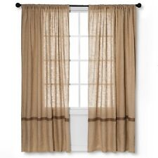 """Solid Curtain Panel (55""""x84"""") Natural - homthreads - NEW in Package"""