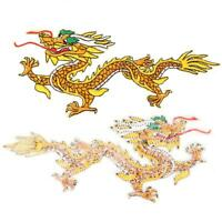 DIY Dragon Embroidered Sew Iron On Patch Badge Fabric Applique Decors