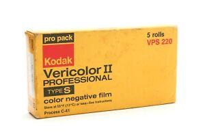Kodak Vericolor II VSP220 Type S Pro Color Neg Film (Exp July 1979)5 Rolls 34587