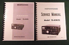 "Kenwood TS-820S Service & Instruction Manuals: with 11"" X 17"" Foldout Schematic"