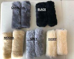 Australian Sheepskin seat belt comforters , 5 Colours.