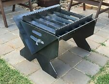 Black Kite - Flat Pack Fire Pit, camping BBQ, Spit, 4mm, FEATURE PACKED VALUE
