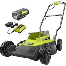 RYOBI Cordless Push Lawn Mower 40-Volt Lithium-Ion Battery/Charger Included