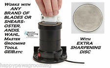 "Master Grooming Tools SharpPRO 2.5"" BLADE SHARPENER&2 DISC For OSTER,ANDIS,WAHL"