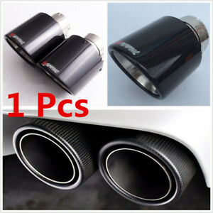 Universal 63mm Inlet/114mm Outlet Carbon Fiber Car Exhaust Modify Muffler Pipe
