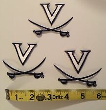 Virginia Cavaliers Embroidered Iron-On Logo Patches - Lot of 3 - NEW!