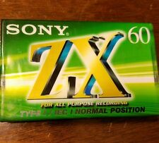 SONY ZX 60 TYPE 1 NORMAL POSITION BLANK SEALED CASSETTE TAPE