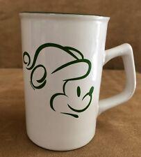 Vintage Mickey Mouse coffee tea Mug Disney outline holiday hat christmas green