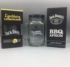Jack Daniels Lynchburg Lemonade Cocktail Set Glas Schürze Barkeeper Geschenk BBQ