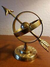 Mint Condition ~Brass~ Armillary~ Sphere Sundial Globe World Arrow