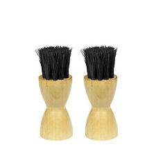 2x LUXURY 100% Horse Hair Dauber Brush For Shoe Cream Polish Application Brush