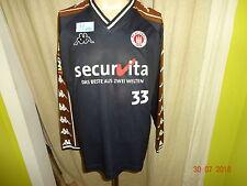 "FC St.Pauli Kappa Langarm Spieler Training Trikot 01/02 ""Securvita""+ Nr.33 Gr.M"