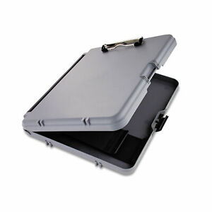 """Saunders WorkMate Storage Clipboard 1/2"""" Capacity Holds 8 1/2w x 12h Charcoal"""