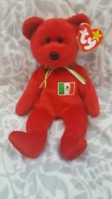 Osito Bear Mexico Original Ty Beanie Baby Rare Nwt No Stamp Retired Multi Errors