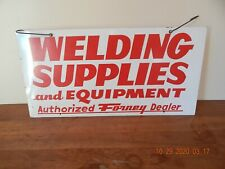 Forney Dealer Welding Supplies And Equipment Painted Metal Double Sided Sign