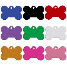 100pcs/Lot  Wholesale Bone Shape Blank Dog Tag Anodized Aluminum Bulk Tags S M L