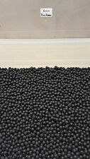 6mm Black Soft Rubber Shock Impact Beads.Chod,Hair,Pop Up Rigs etc + Free Gift