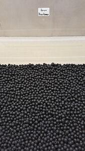 6mm Black Soft Rubber Shock Impact Beads.Carp,Cat Fish Rigs etc + Free Gift.