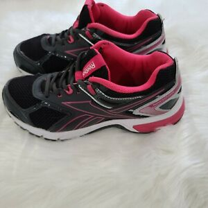 Reebok Quickchase DMX Ride Athletic Running Shoes Black/Pink Size 6.5 Wide