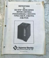 SLO-SYN MICRO SERIES MOTION CONTROLS INDEXER MANUAL 3180-PI SUPERIOR ELECTRIC