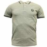 Sergio Tacchini Mens Polo Top Grey T-Shirt Smart Casual 37387 912 DD38