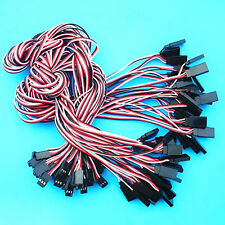 50 Pcs 500mm Servo Extension Cord Lead 26awg Wire Connector Cable  For Futaba