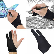 1x Two Finger Anti-fouling Glove Drawing Pen Graphic Tablet Pad For Artist Black