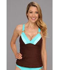 114e846a8c618 Athena Worth Avenue Tankini Top Solid Brown Women's Size 8 ...