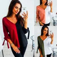 Women Long SLeeve Floral Top Ladies Casual Crew Neck Loose Blouse T-Shirt