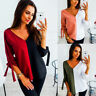 Women's Ladies Long SLeeve Floral Tops Casual Crew Neck Loose Blouse T-Shirt