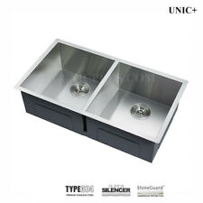 "33"" Undermount Zero-Radius Corner Kitchen Sink, double 50/50. KUS3318A"