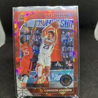 2019-20 Panini Hoops Premium 208 Cameron Johnson RC Rookie Red Cracked Ice
