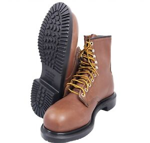 """NEW Red Wing Oil Resistant Long Wear 8"""" Work Steel Toe Safety Boots Mens 8.5 EEE"""