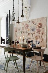 Anthropologie Vase Of Wonder Paper Tapestry Vintage Look Wall Mural NEW
