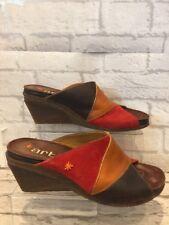 Women's Quality Leather Art Sandals Uk7 EU40 Wedge Summer Sandals Heels