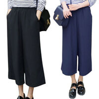 Plus Size Women's Fashion High Waist Wide Leg Pants Loose Casual Pants TrousersL