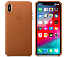 iPhone X 5,8″ Apple Genuine Original Leather Protective Case Cover Saddle Brown
