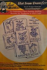 Aunt Martha's Hot Iron Transfer 3787 Fancy Fruit for Tea Towels NEW Free Ship