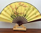 Chinese Japanese Folding Silk Hand Flower Bamboo Asian Pocket Fan Decor