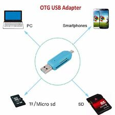 Memory Card Reader Micro USB OTG to USB 2.0 Adapter;USB 2.0 SD/Micro SD Card UK