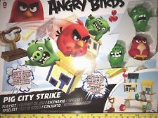 ANGRY BIRDS-PIG CITY STRIKE PLAYSET - BRAND NEW AND SEALED - ages 3+