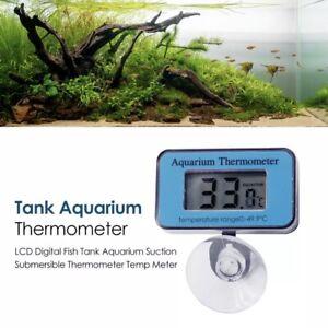 UK LCD Digital Thermometer Fish Tank Aquarium Submersible Underwater Temp Meter