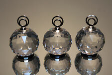 (3) Swarovski Crystal Clear Large Place Card Holders 7403 Nr 30 Mint w/Box