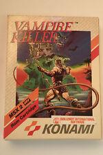VAMPIRE KILLER / CASTLEVANIA - MSX 2 KONAMI EUR BOX  RARE COLLECTORS TBE