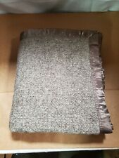 spencer & whitney Bed Blanket Wool Soft Throw Herringbone Blanket, Brown, Twin